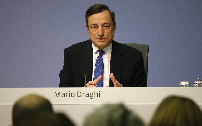 Reunión de Mario Draghi al mando de BCE